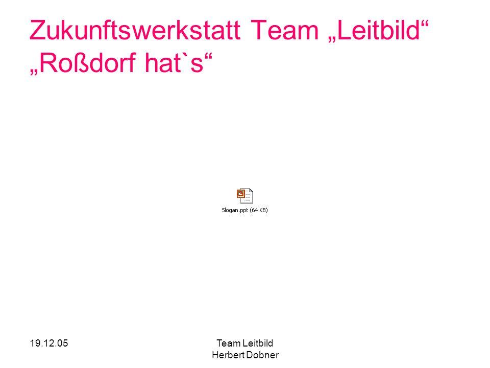 """Zukunftswerkstatt Team """"Leitbild """"Roßdorf hat`s"""