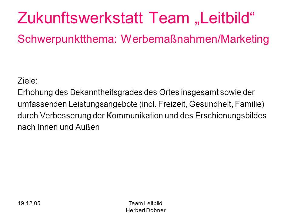 Team Leitbild Herbert Dobner