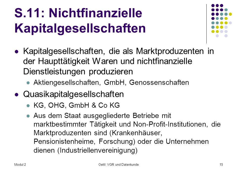 S.11: Nichtfinanzielle Kapitalgesellschaften