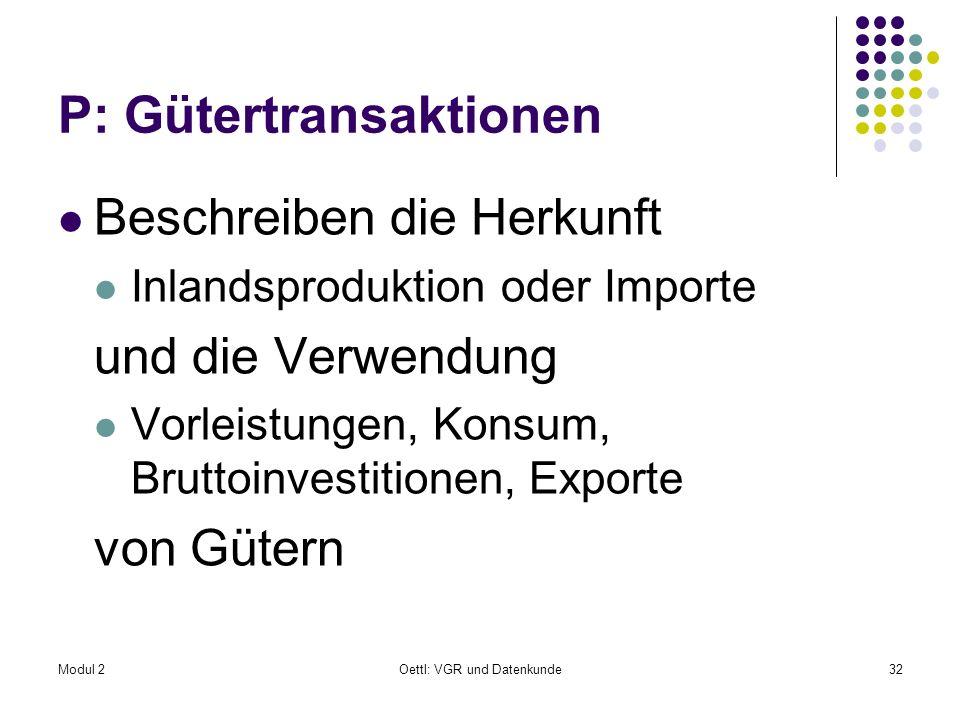 P: Gütertransaktionen