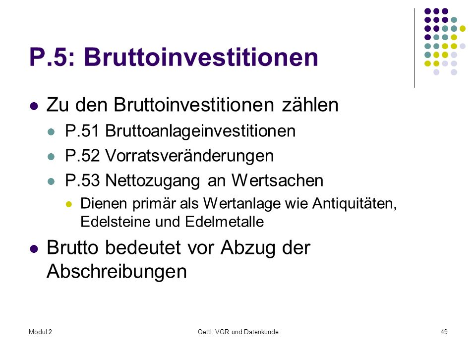 P.5: Bruttoinvestitionen
