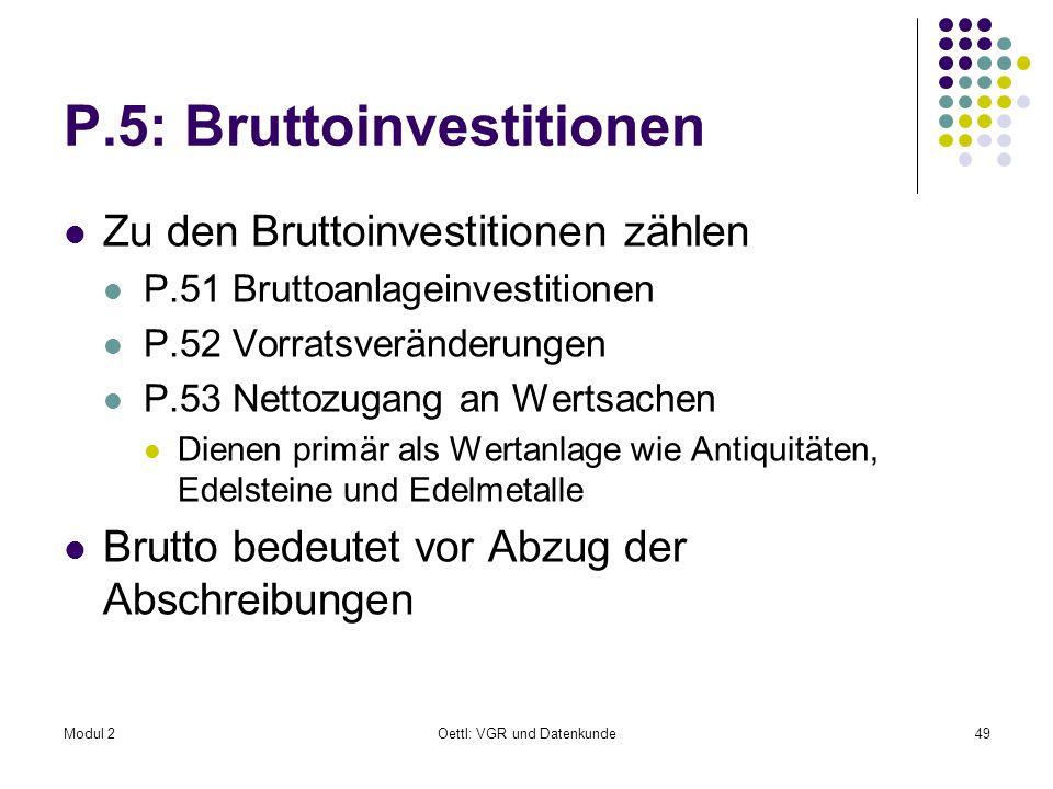 P.5: Bruttoinvestitionen