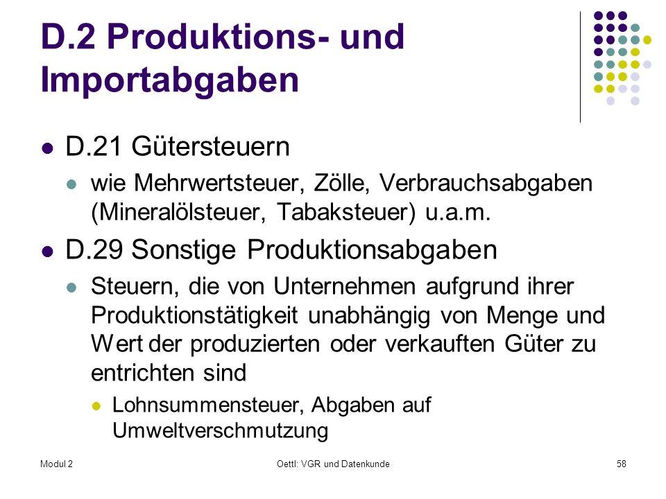 D.2 Produktions- und Importabgaben