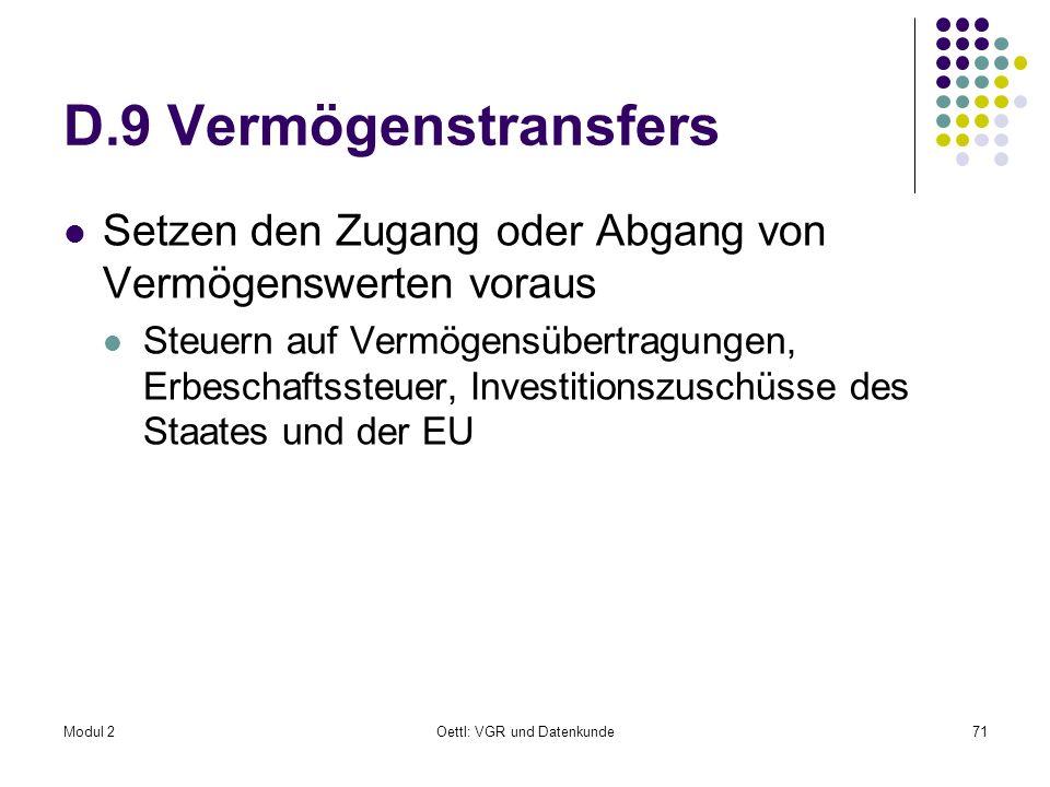 Oettl: VGR und Datenkunde