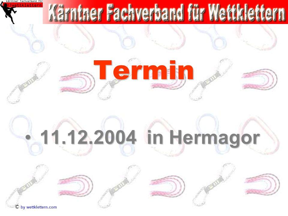 Termin 11.12.2004 in Hermagor © by wettklettern.com