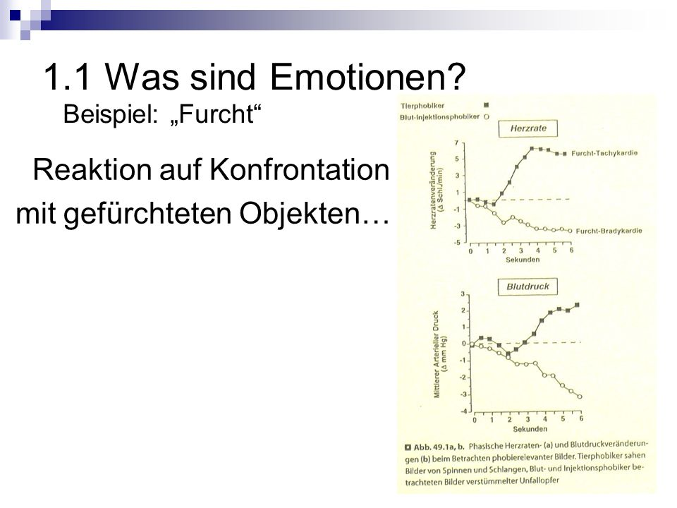 1.1 Was sind Emotionen Reaktion auf Konfrontation