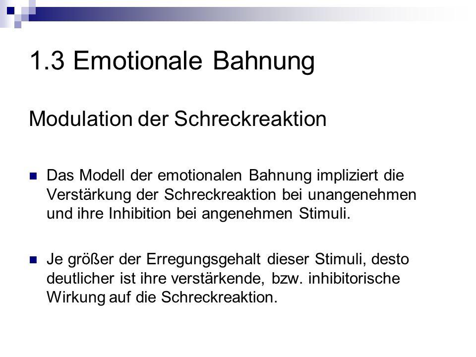 1.3 Emotionale Bahnung Modulation der Schreckreaktion