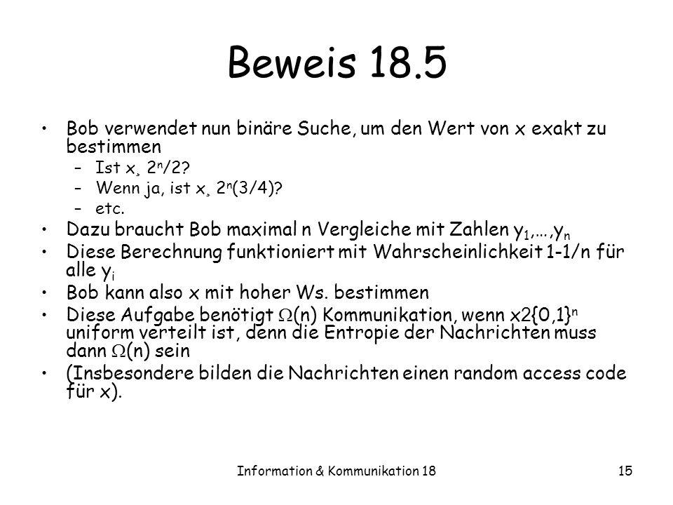 Information & Kommunikation 18