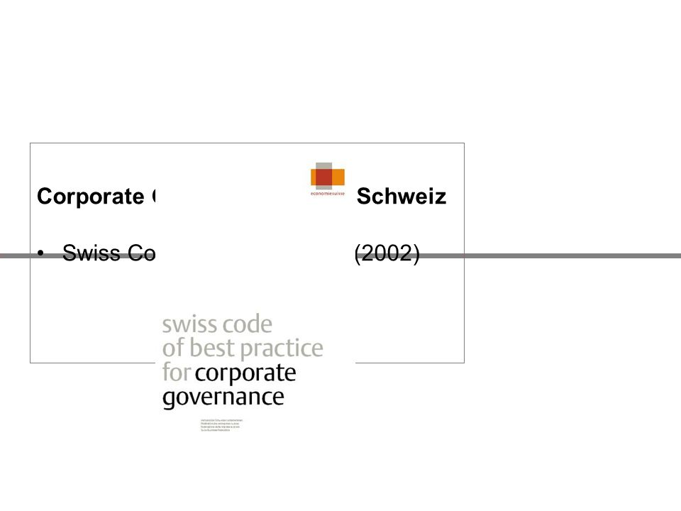 Corporate Governance in der Schweiz