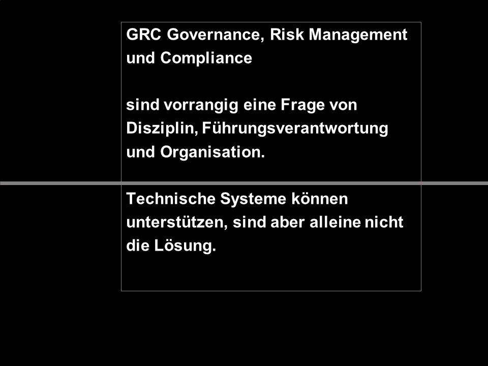 GRC Governance, Risk Management