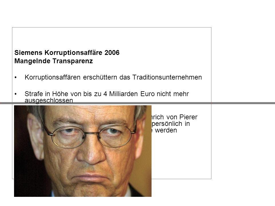Siemens Korruptionsaffäre 2006