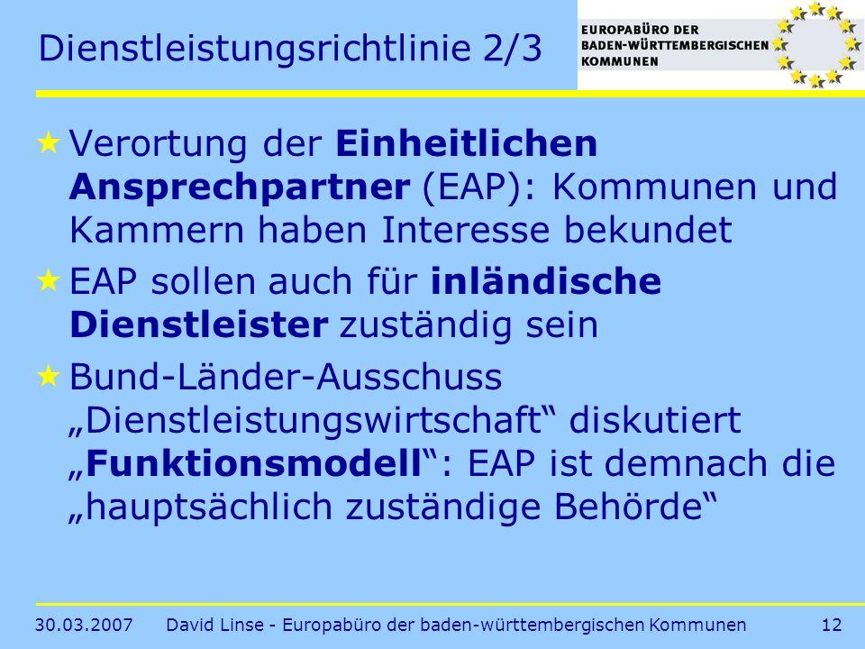 Dienstleistungsrichtlinie 2/3