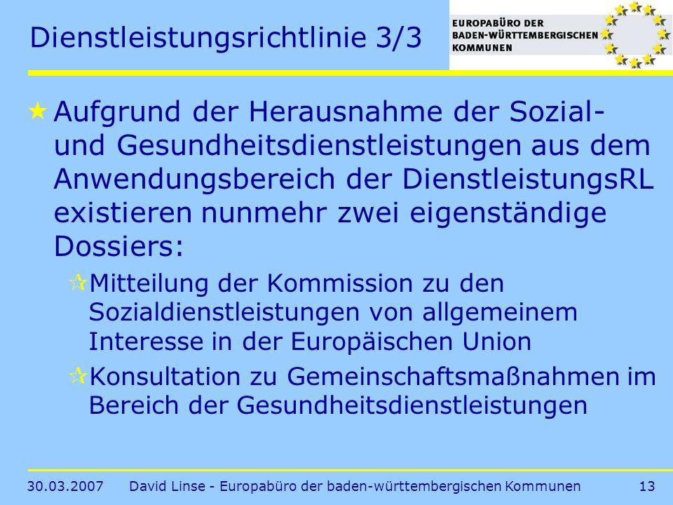 Dienstleistungsrichtlinie 3/3