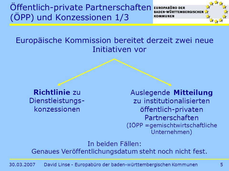 Öffentlich-private Partnerschaften (ÖPP) und Konzessionen 1/3