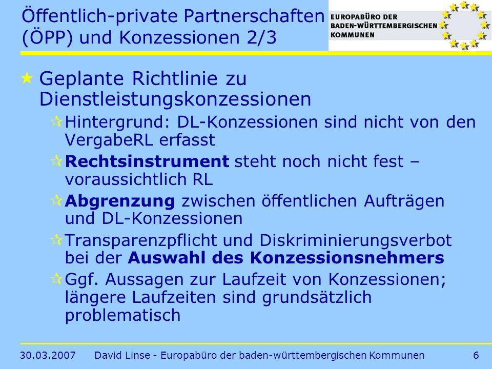 Öffentlich-private Partnerschaften (ÖPP) und Konzessionen 2/3