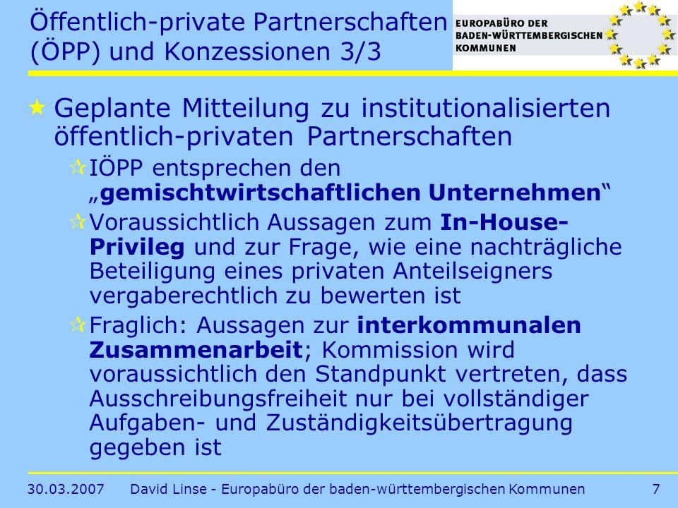 Öffentlich-private Partnerschaften (ÖPP) und Konzessionen 3/3