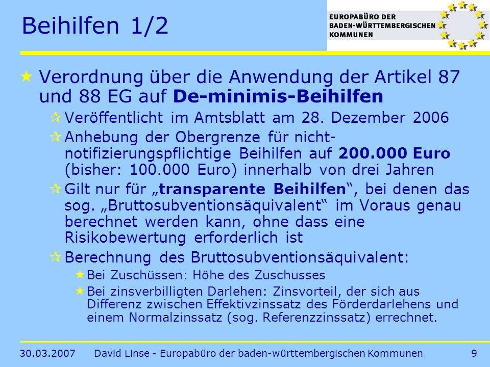 David Linse - Europabüro der baden-württembergischen Kommunen