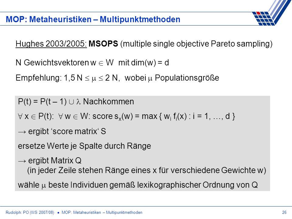 MOP: Metaheuristiken – Multipunktmethoden