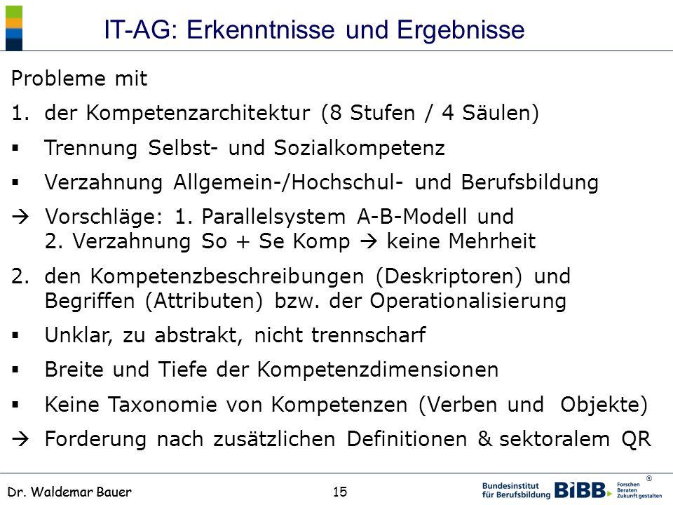 IT-AG: Erkenntnisse und Ergebnisse