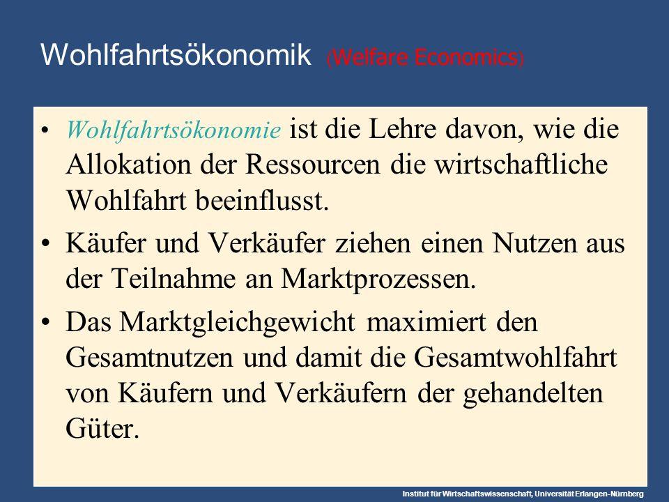 Wohlfahrtsökonomik (Welfare Economics)