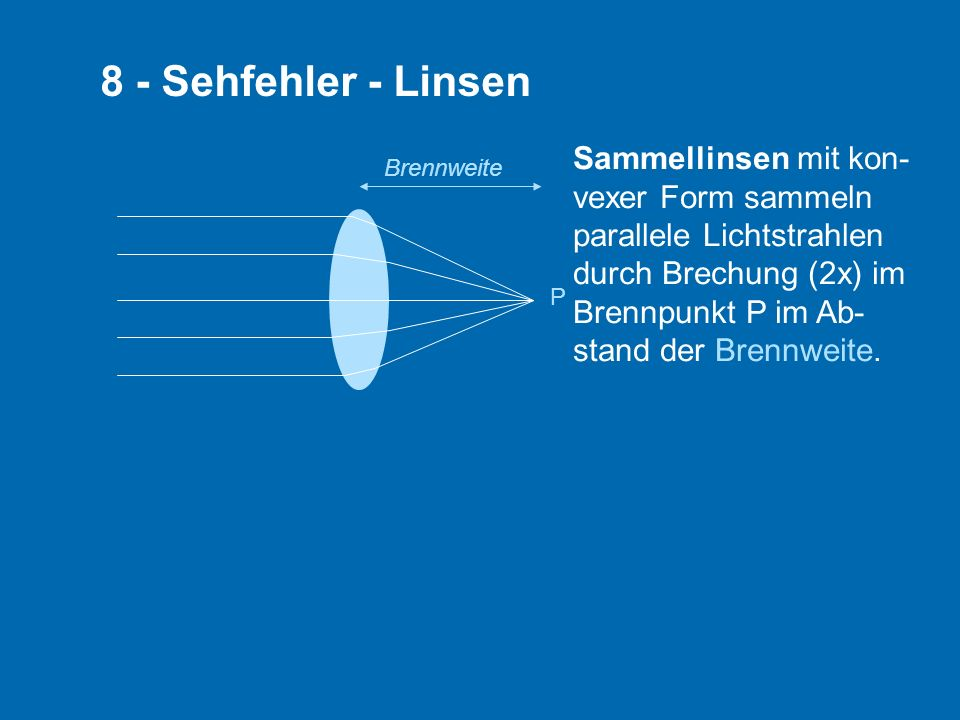 8 - Sehfehler - Linsen