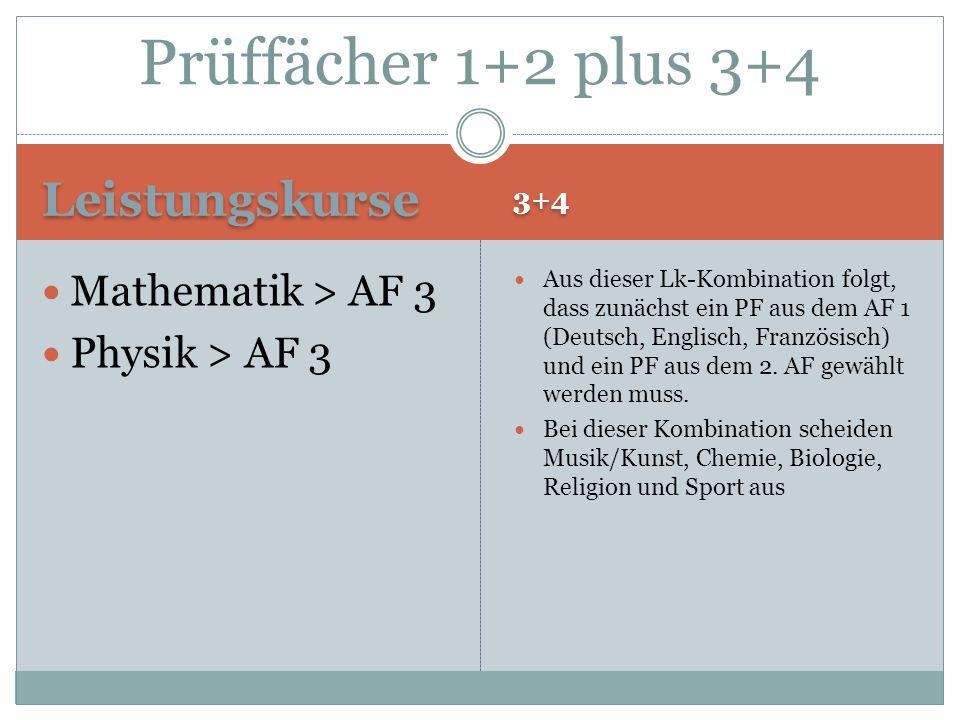 Prüffächer 1+2 plus 3+4 Leistungskurse Mathematik > AF 3