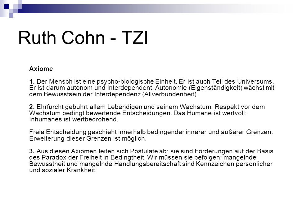 Ruth Cohn - TZI