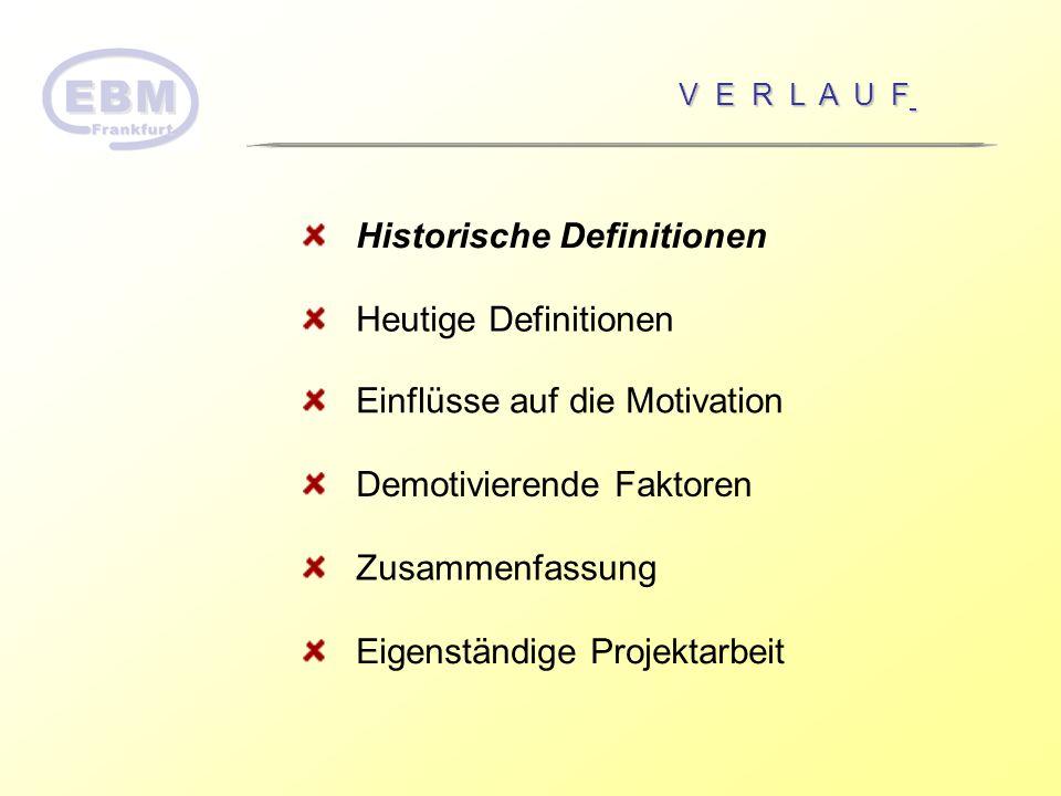 Historische Definitionen