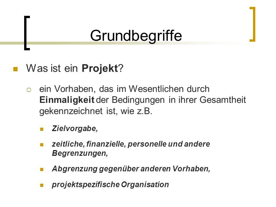 Grundbegriffe Was ist ein Projekt