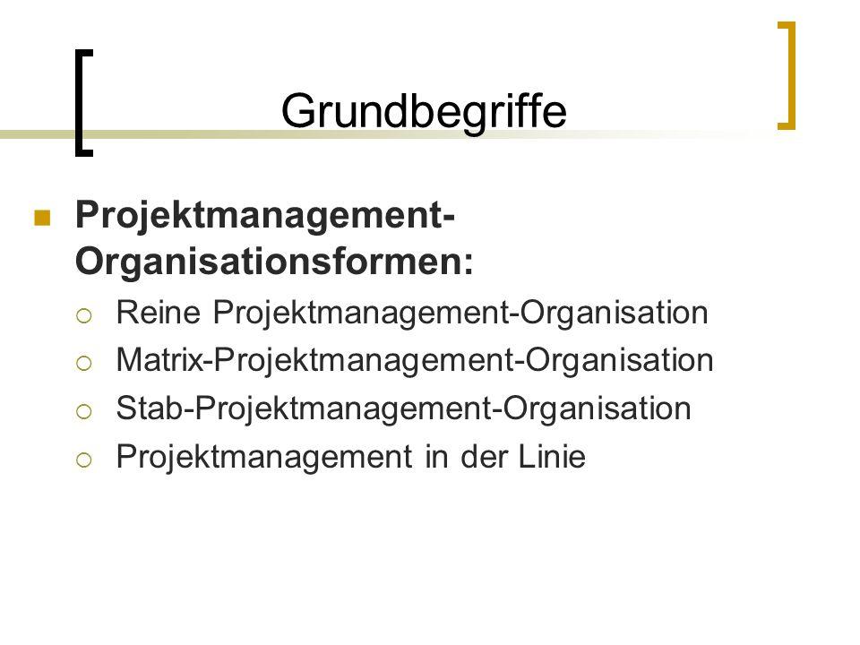 Grundbegriffe Projektmanagement-Organisationsformen: