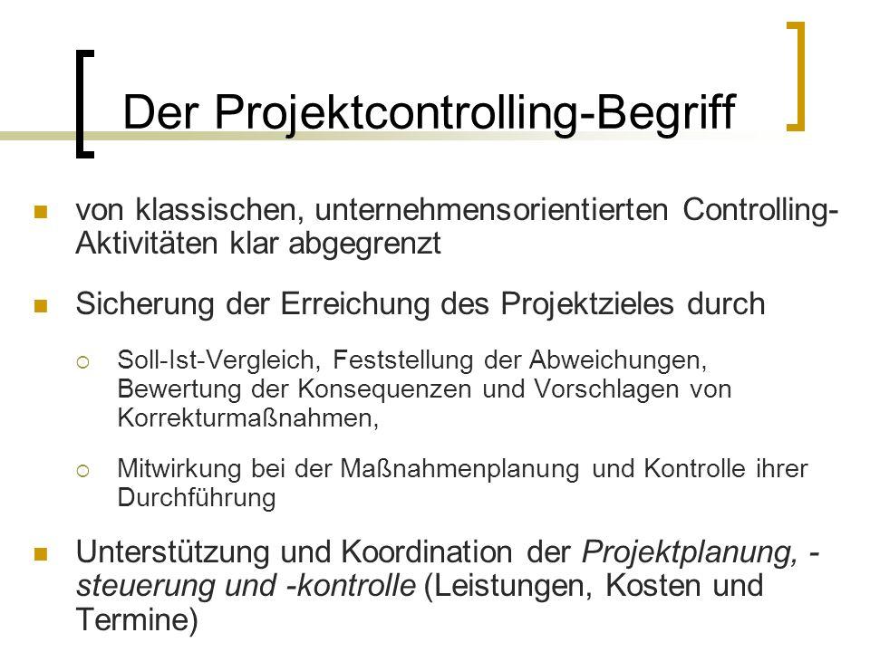 Der Projektcontrolling-Begriff
