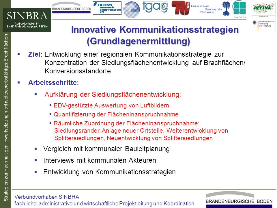 Innovative Kommunikationsstrategien (Grundlagenermittlung)