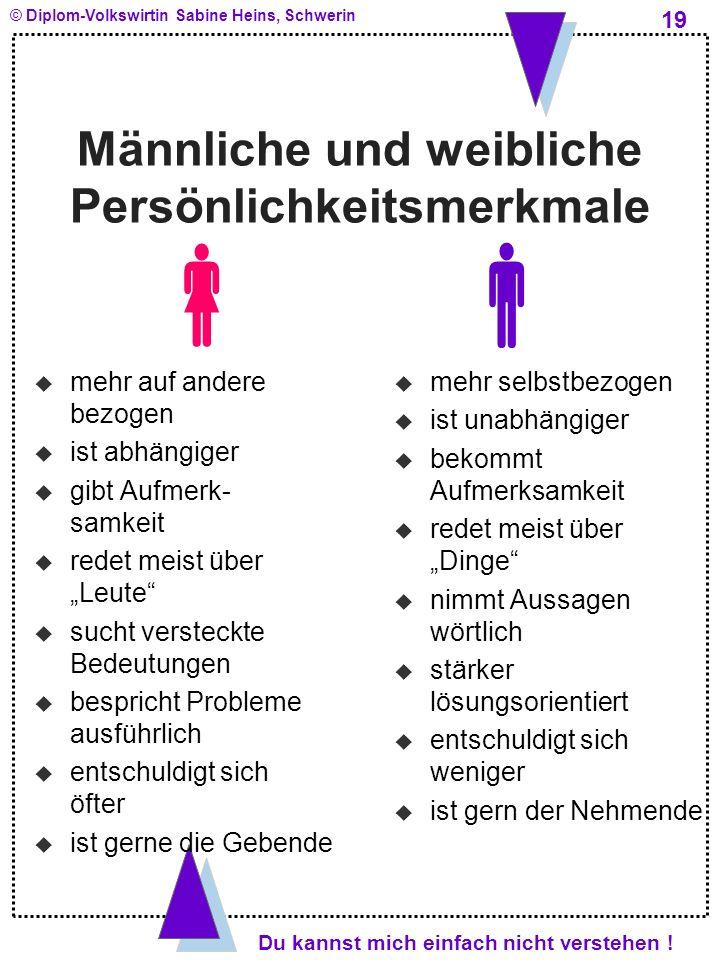 Männliche und weibliche Persönlichkeitsmerkmale