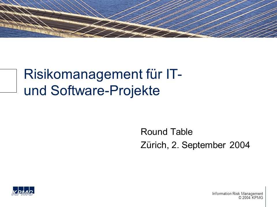 Risikomanagement für IT- und Software-Projekte