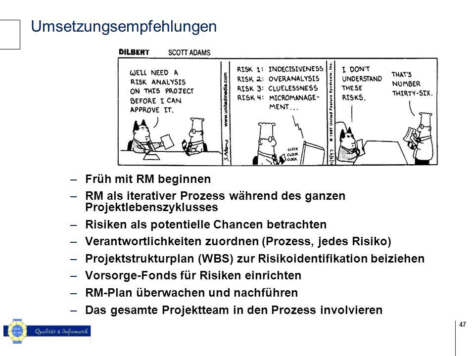 Umsetzungsempfehlungen