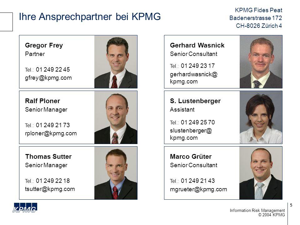 Ihre Ansprechpartner bei KPMG