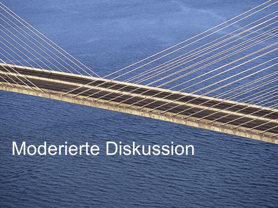 Moderierte Diskussion
