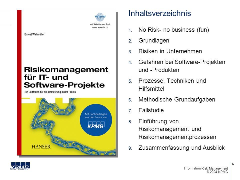 Inhaltsverzeichnis No Risk- no business (fun) Grundlagen
