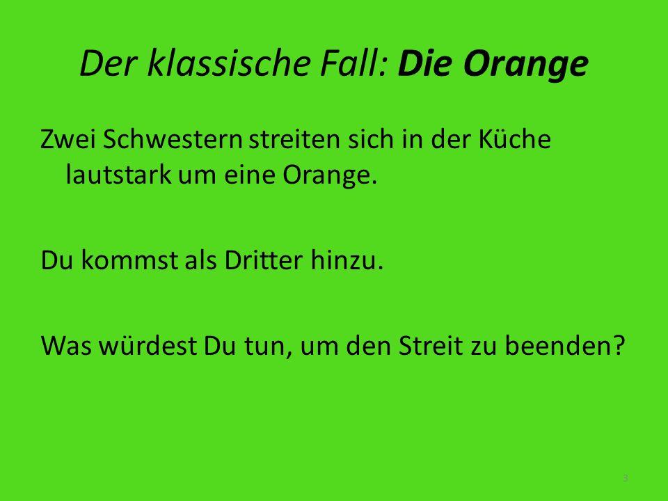 Der klassische Fall: Die Orange