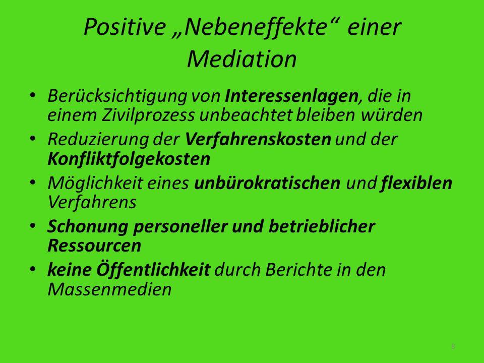"""Positive """"Nebeneffekte einer Mediation"""