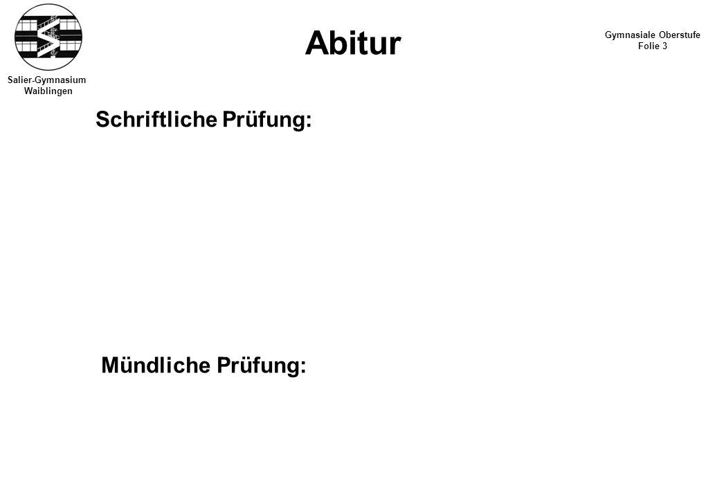 Schriftliche Prüfung: