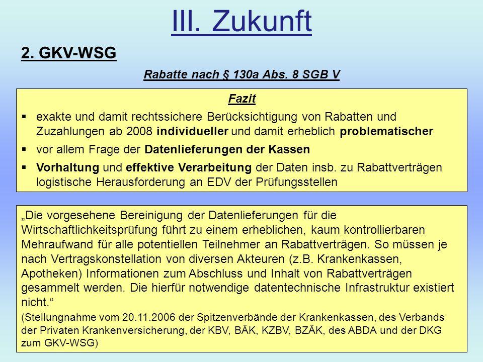 Rabatte nach § 130a Abs. 8 SGB V