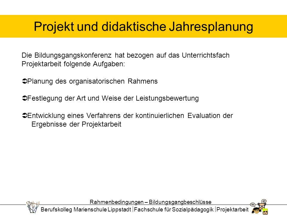 Projekt und didaktische Jahresplanung