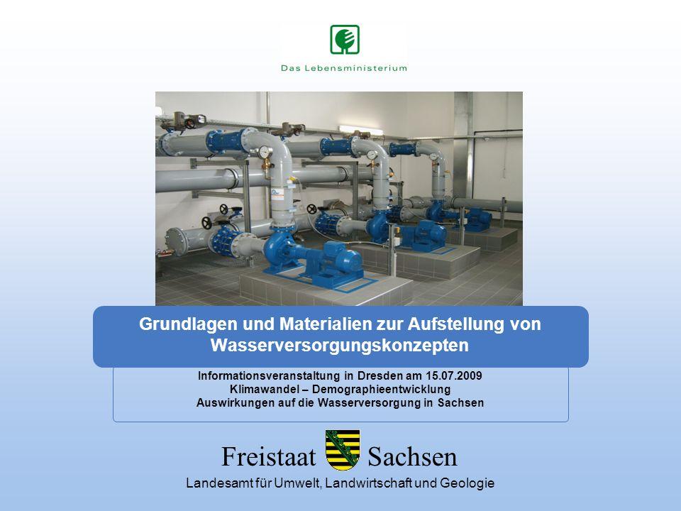 Grundlagen und Materialien zur Aufstellung von Wasserversorgungskonzepten