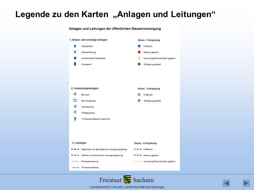 """Legende zu den Karten """"Anlagen und Leitungen"""