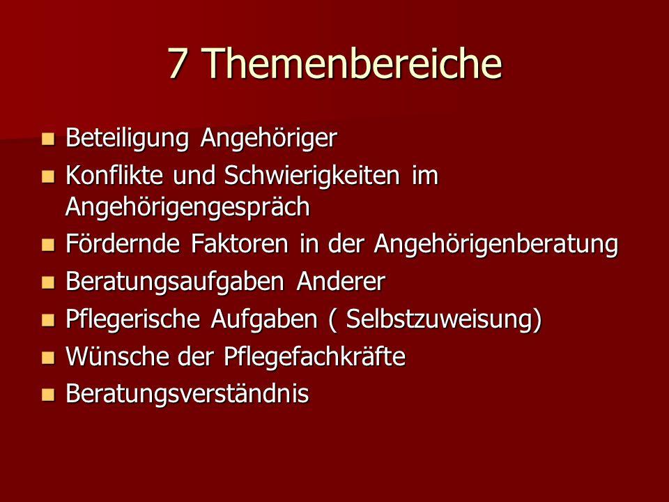 7 Themenbereiche Beteiligung Angehöriger