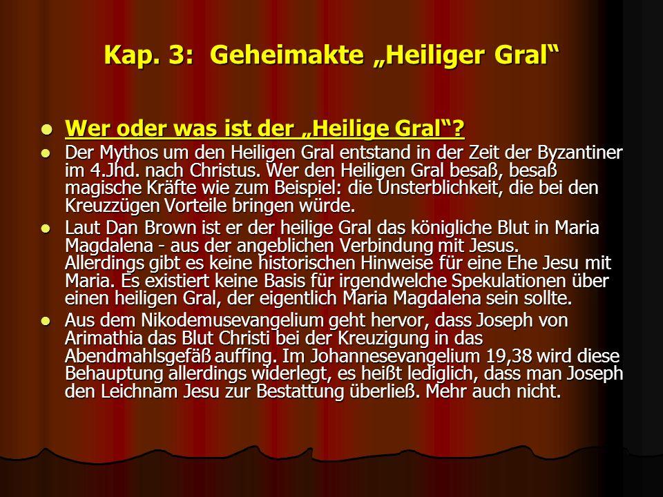 """Kap. 3: Geheimakte """"Heiliger Gral"""