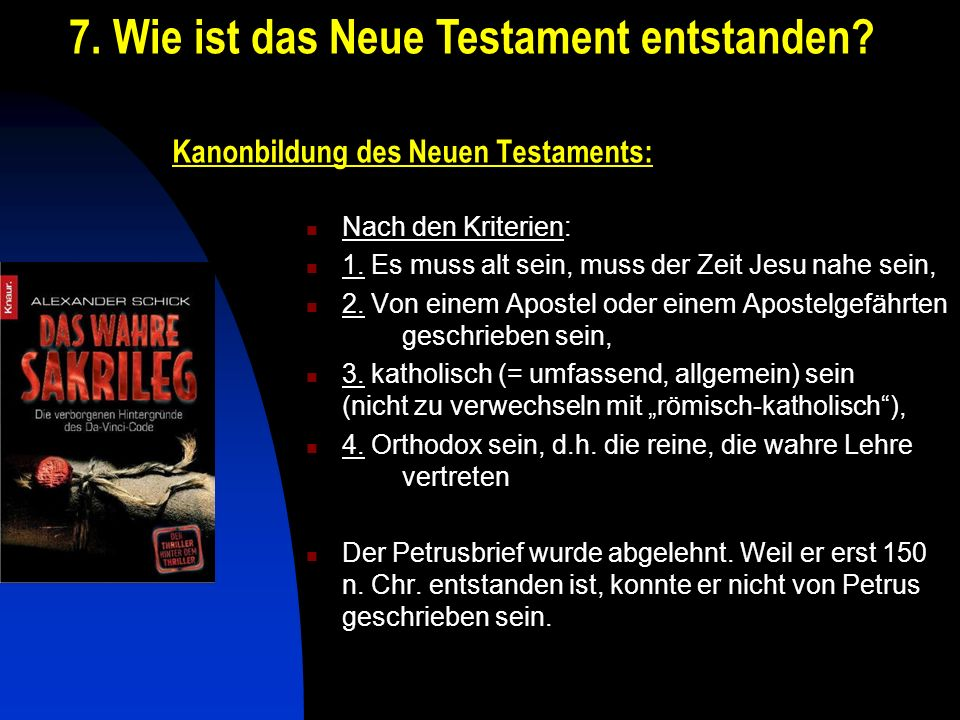 Kanonbildung des Neuen Testaments: