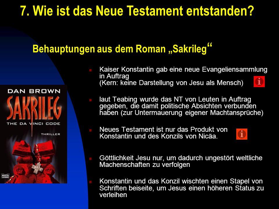 "Behauptungen aus dem Roman ""Sakrileg"