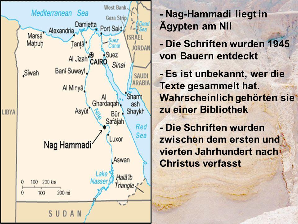 - Nag-Hammadi liegt in Ägypten am Nil